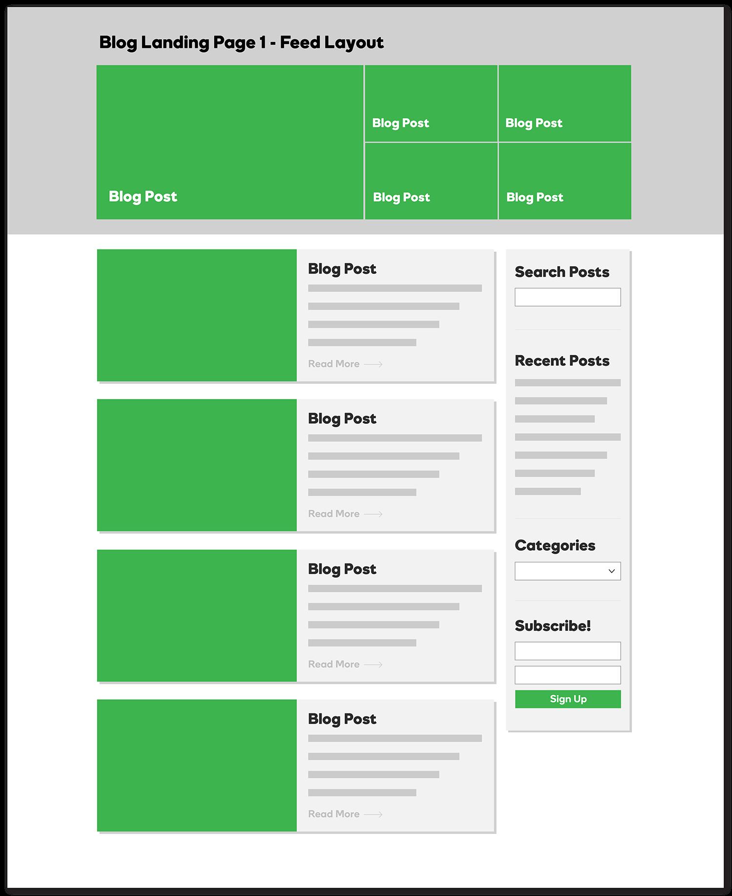 Blog Landing Page - Feed