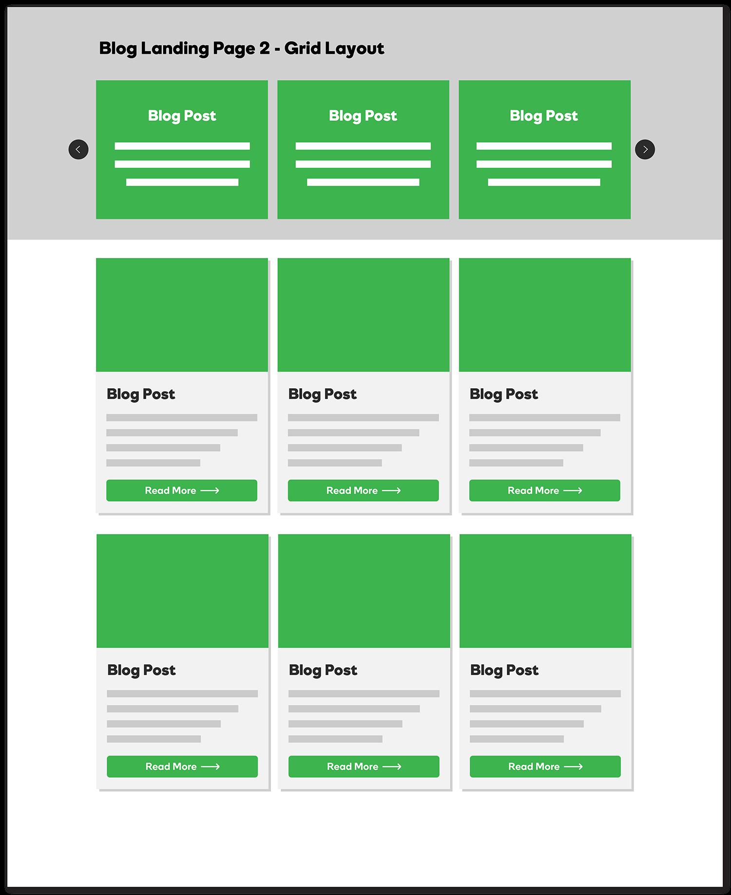Blog Landing Page - Grid