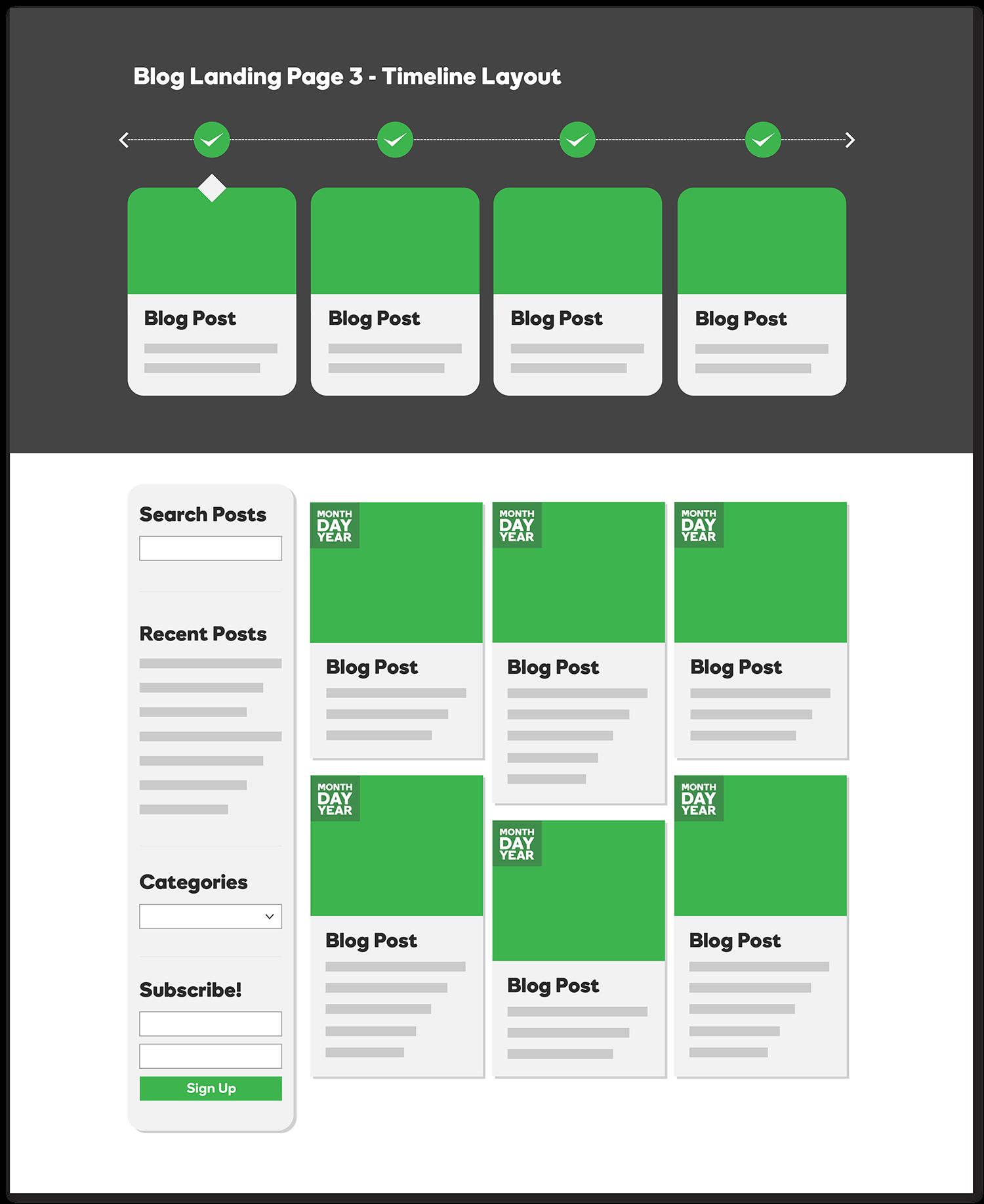 Blog Landing Page - Timeline