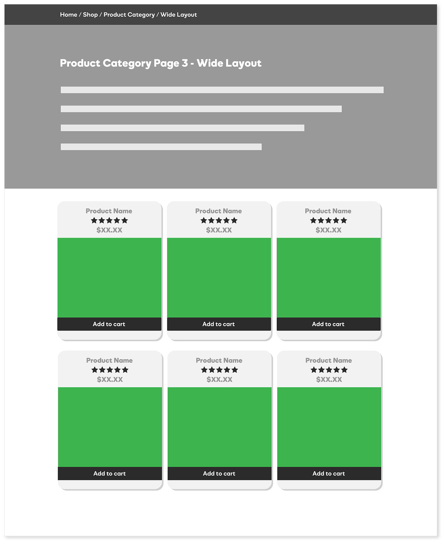 Product Category Page - Wide