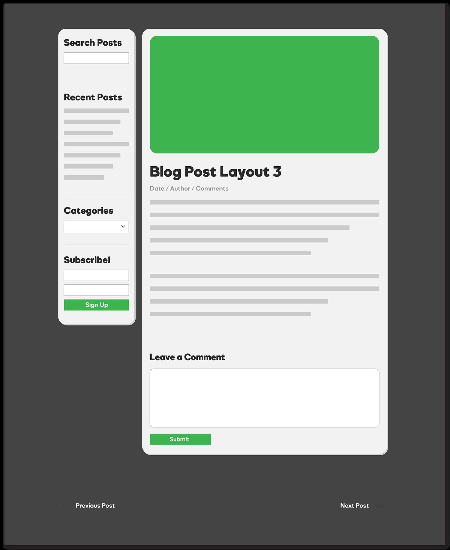 Single Blog Post - Timeline