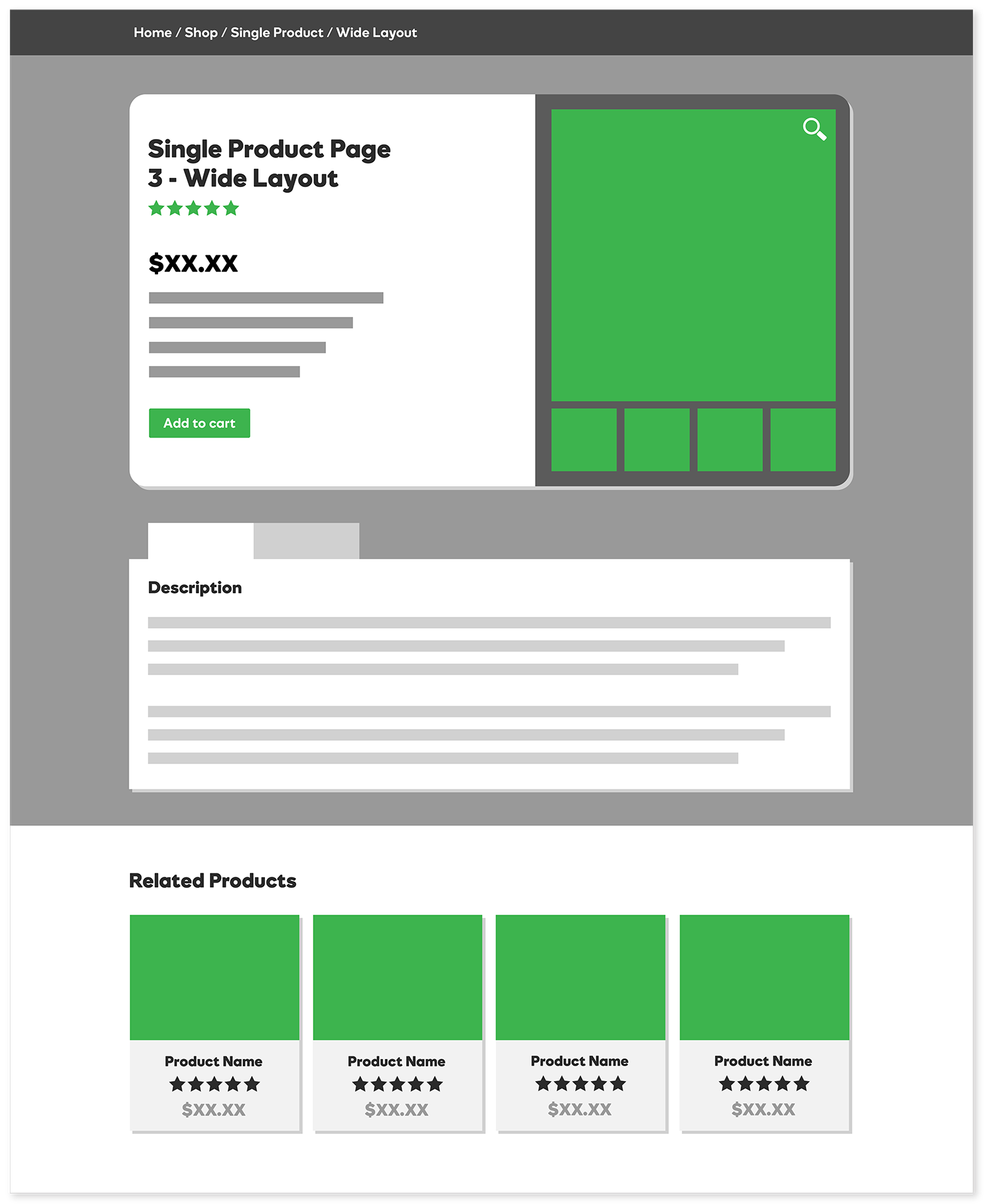Single Product Page - Wide