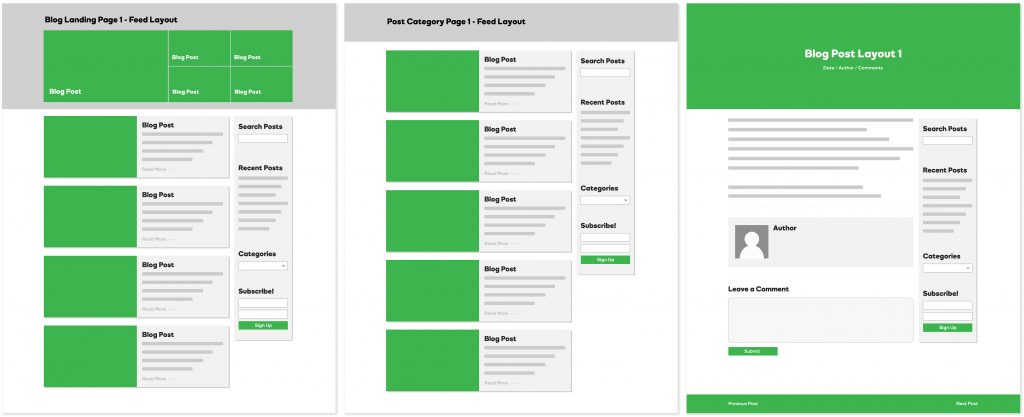 Blog Layouts - Feed
