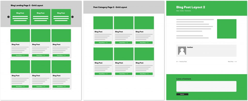 Blog Layouts - Grid