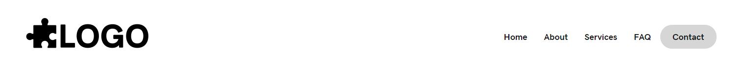 Header Simple – logo, menu with cta css
